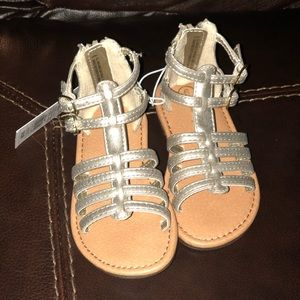 Little girls sandals gold size 6 new in box